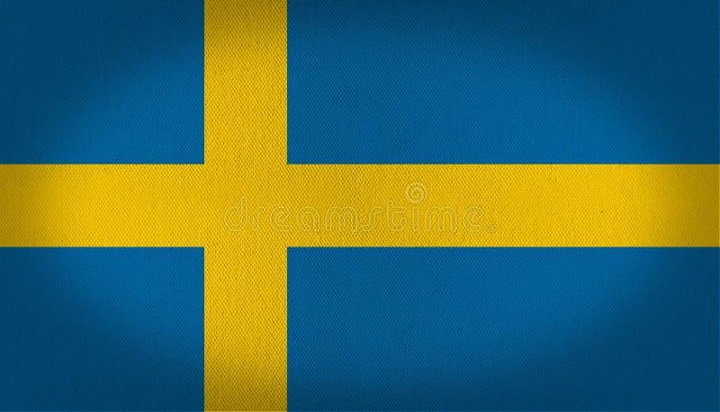 вектор Швеции типа имеющегося флага стеклянный бесплатная иллюстрация