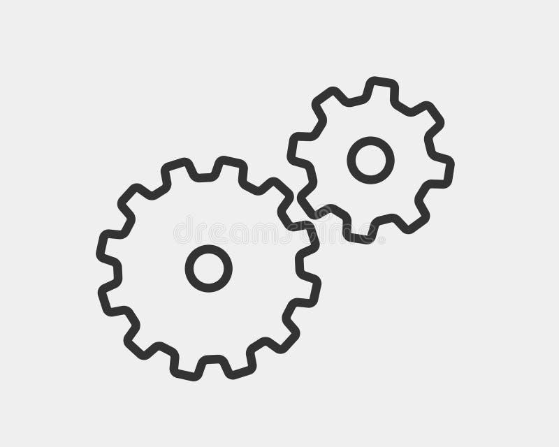Вектор шестерней и cogs металла Дизайн значка шестерни плоский Логотип колес механизма Шаблон концепции Cogwheel бесплатная иллюстрация