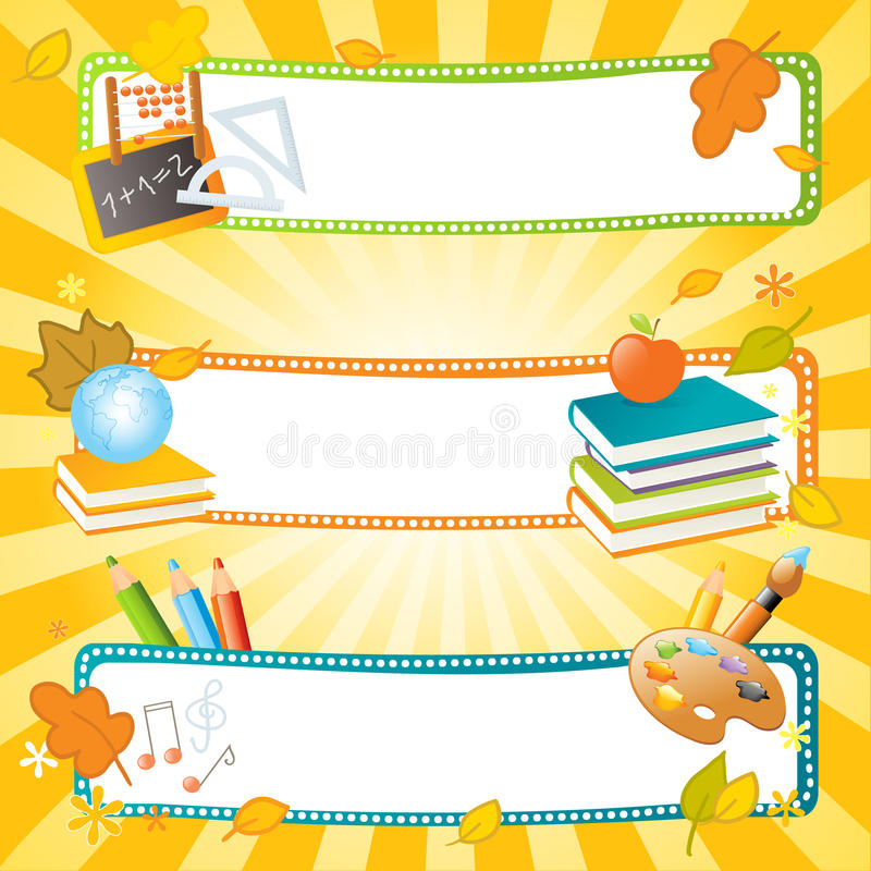вектор школы знамен бесплатная иллюстрация