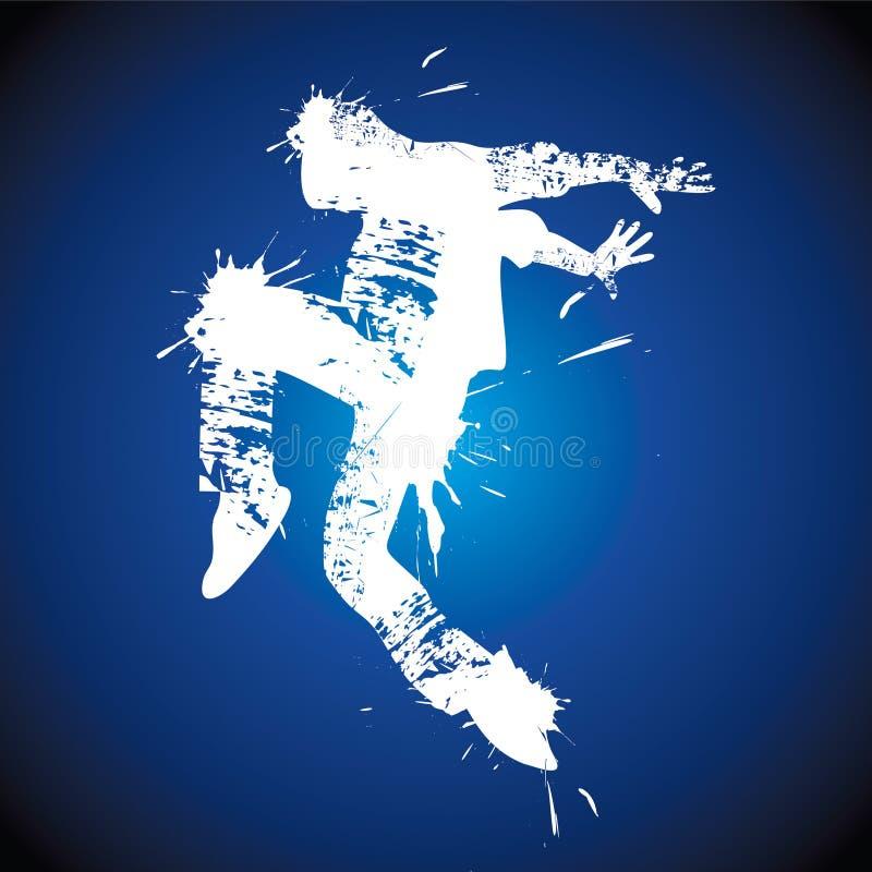 Танцы вальм-хмеля молодого человека бесплатная иллюстрация
