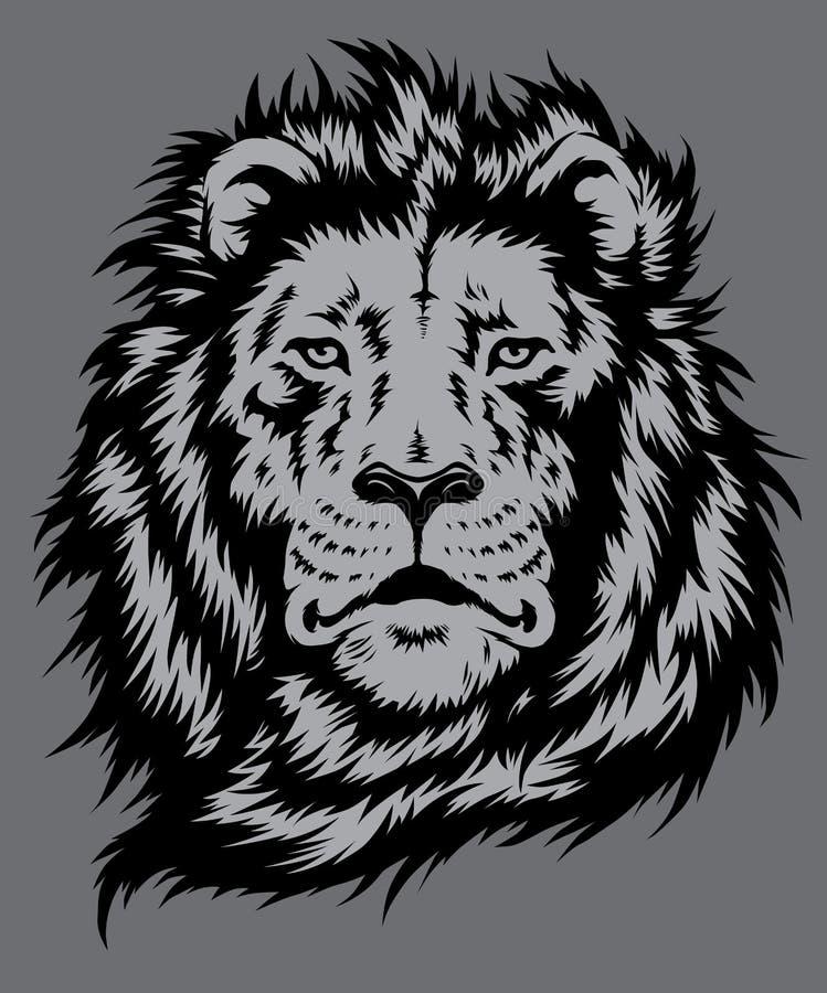 Вектор льва головной бесплатная иллюстрация