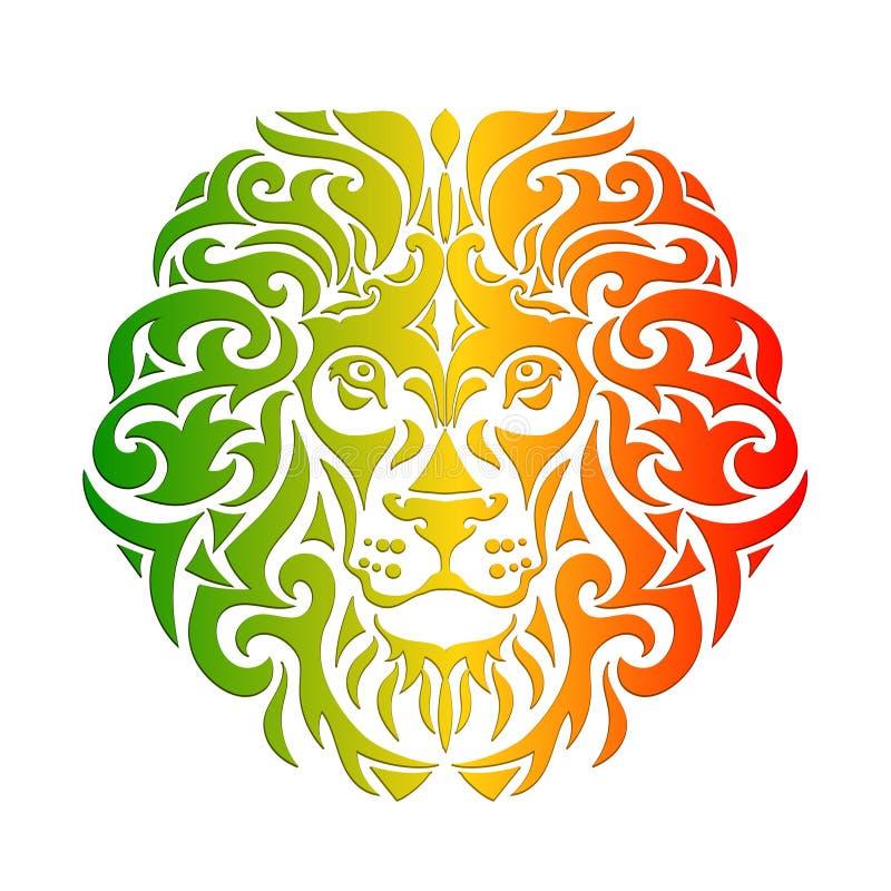Вектор льва Rasta иллюстрация вектора