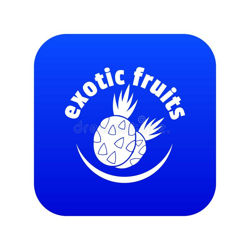 Вектор экзотического значка плодов голубой иллюстрация вектора