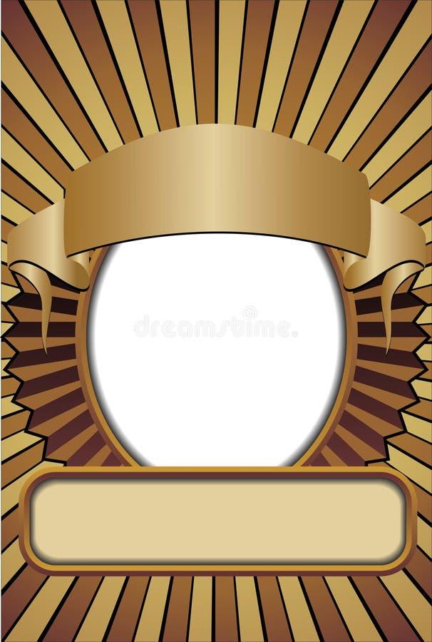 вектор экрана плаката ретро иллюстрация штока
