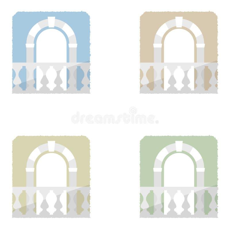 вектор элемента входа балкона иллюстрация штока