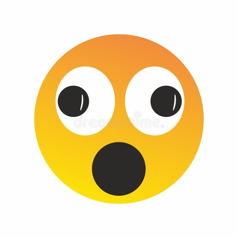 Вектор элемента дизайна круглого значка стороны улыбки emoji оранжевого желтого цвета счастливый жизнерадостный круглый Для сети  иллюстрация штока