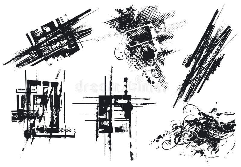 вектор элементов конструкции иллюстрация штока
