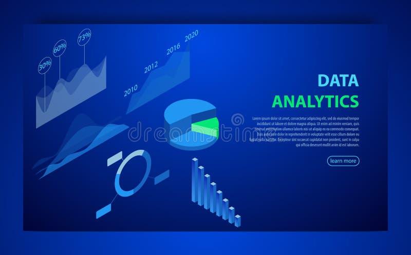 вектор элементов infographic Иллюстрация диаграмм данных финансовых или диаграмм, статистики данным по информации Равновеликий ди иллюстрация вектора