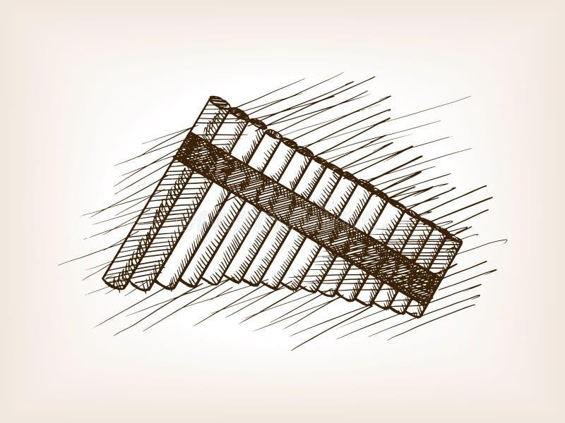 Вектор эскиза каннелюры лотка нарисованный рукой иллюстрация штока