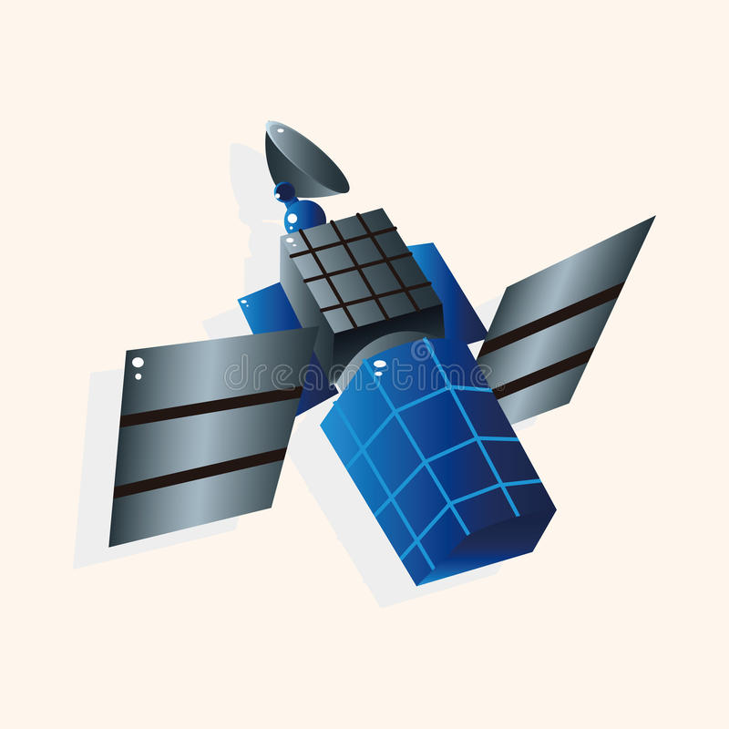 Вектор элементов темы космоса спутниковый, eps иллюстрация вектора