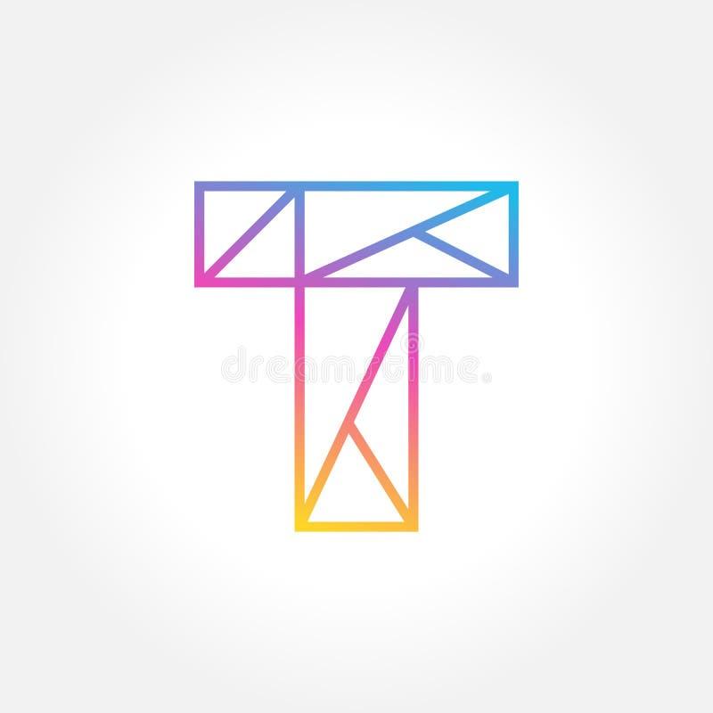 Вектор элементов шаблона дизайна значка логотипа письма t бесплатная иллюстрация