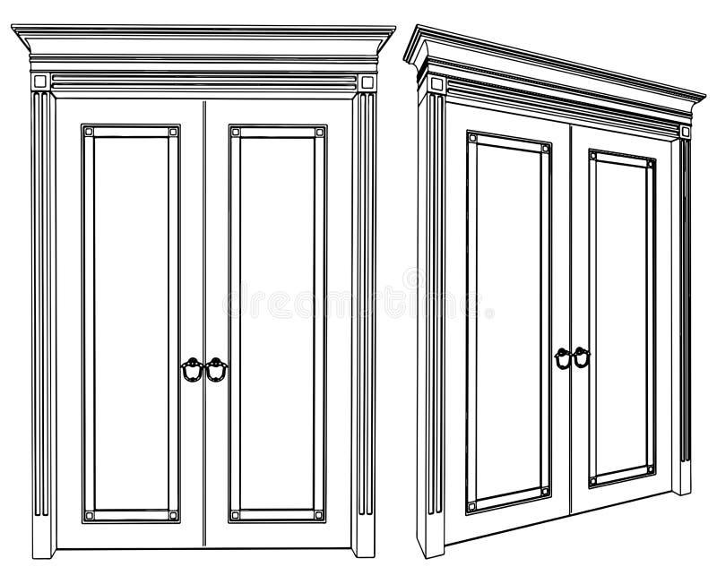вектор 01 двери иллюстрация вектора