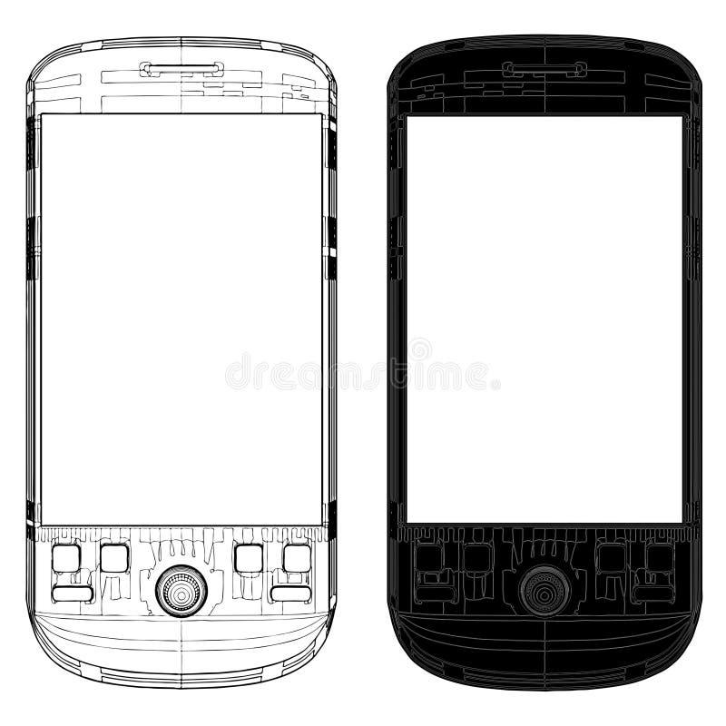 вектор 01 мобильного телефона иллюстрация штока