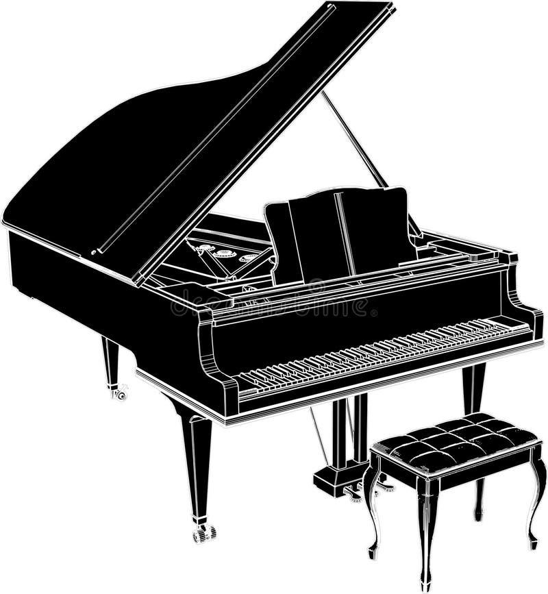 вектор 01 рояля иллюстрация вектора