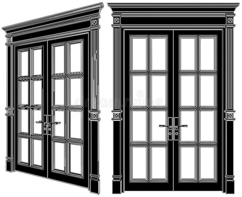 вектор 02 дверей иллюстрация штока