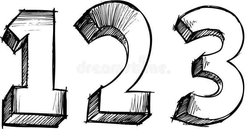 вектор 123 номеров схематичный бесплатная иллюстрация