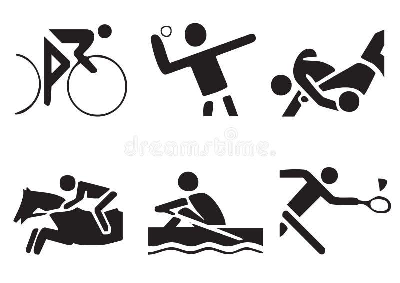 вектор 2 символов спортов иллюстрация вектора