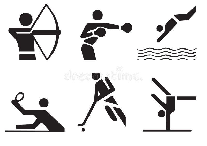 вектор 3 символов спортов иллюстрация штока