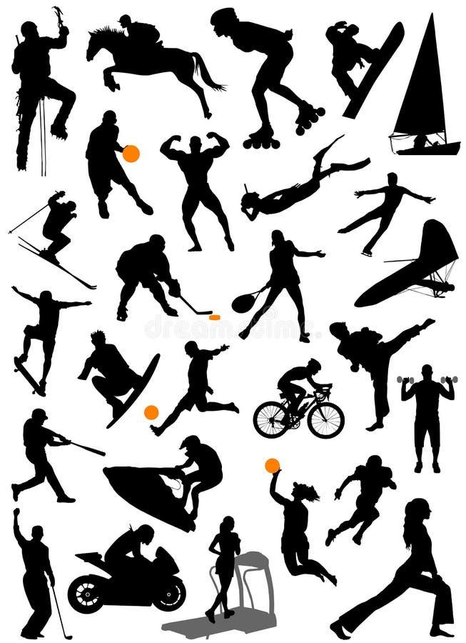 вектор 5 спортов собрания бесплатная иллюстрация