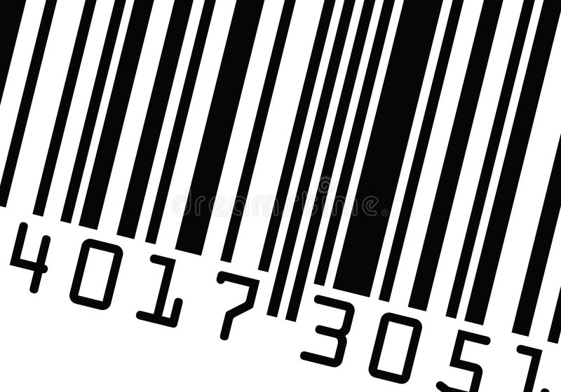 вектор barcode близкий поднимающий вверх иллюстрация штока