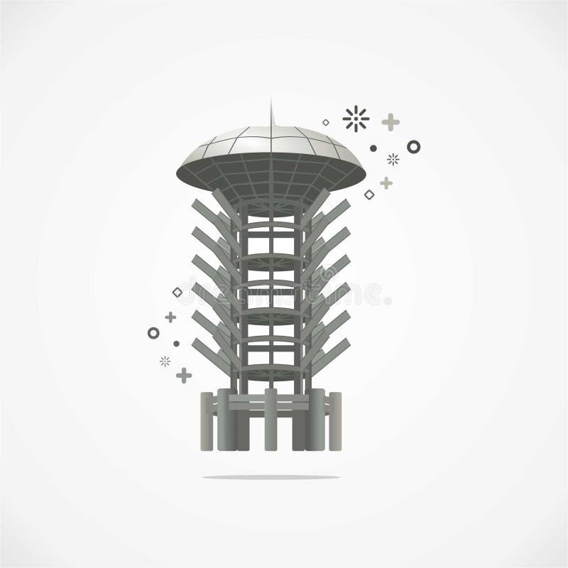 Вектор Cilegon города ориентир ориентира иллюстрация вектора