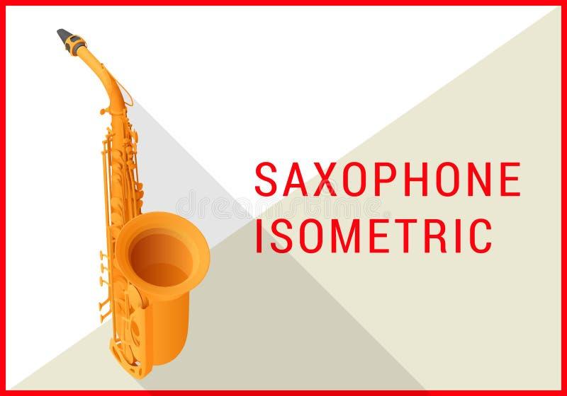 Вектор 3d саксофона равновеликий плоский бесплатная иллюстрация
