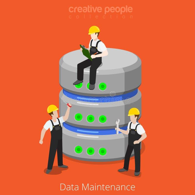 Вектор 3d SQL обслуживания хранения базы данных HDD плоский равновеликий бесплатная иллюстрация