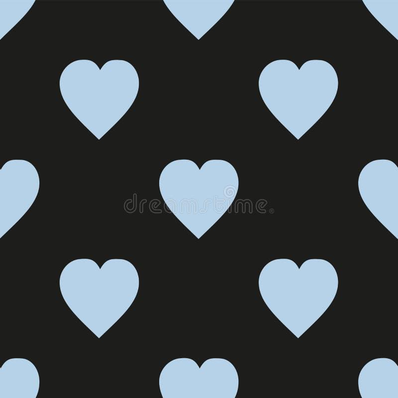 вектор editable картины иллюстрации сердец масштабируемый Плоско скандинавский стиль для печати на ткани, обруче подарка, предпос бесплатная иллюстрация