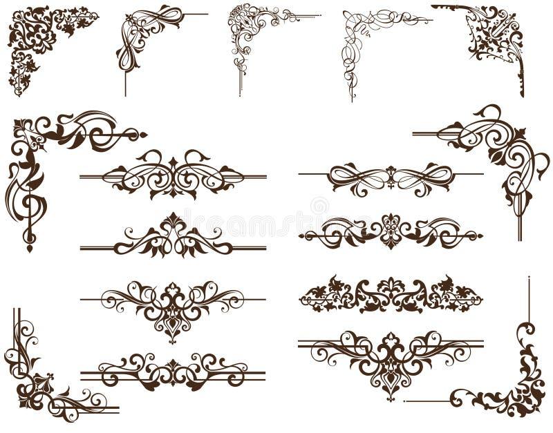 Вектор elementdy для углов дизайна иллюстрация штока