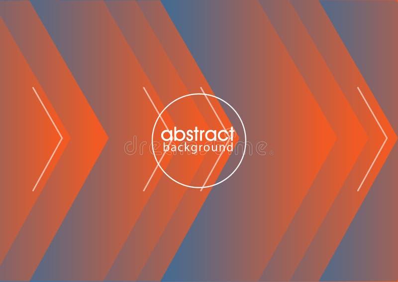 Вектор eps абстрактной стрелки предпосылки оранжевый голубой 10 бесплатная иллюстрация