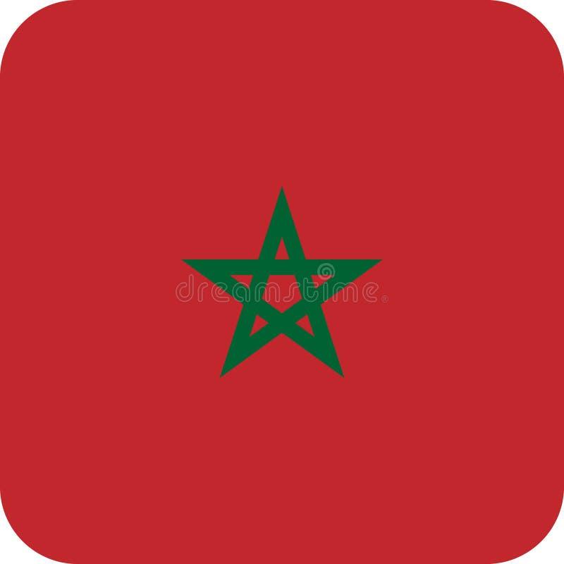 Вектор eps иллюстрации Марокко Африки флага иллюстрация штока