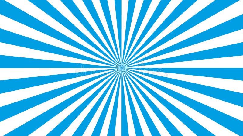 Вектор eps10 картины Солнца голубых и белых лучей Sunburst Sunburst голубая пред иллюстрация штока