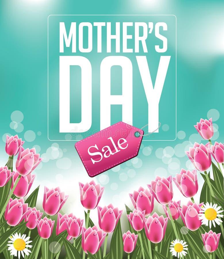 Вектор EPS 10 предпосылки продажи дня матерей бесплатная иллюстрация