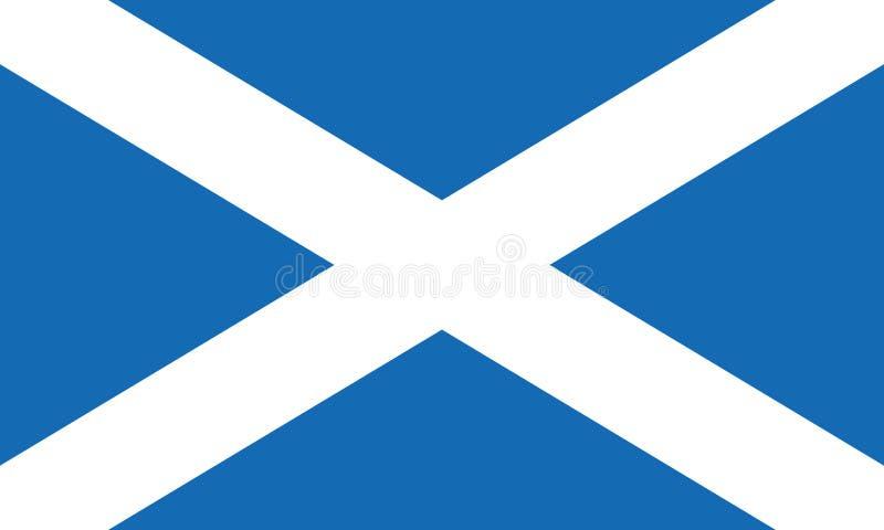 Вектор eps10 флага Шотландии Шотландский флаг Флаг Шотландии Андрей Первозванный иллюстрация вектора