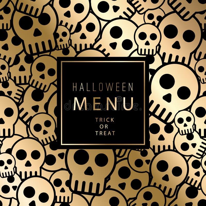 вектор eps halloween карточки включенный иллюстрация штока