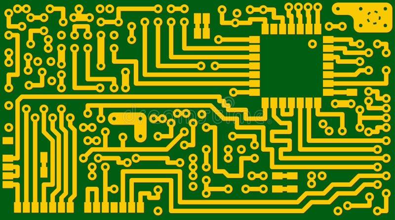 вектор eps8 цепи предпосылки электронный зеленый иллюстрация вектора