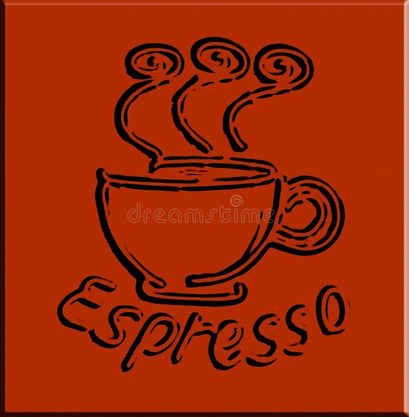 вектор espresso кофе иллюстрация штока