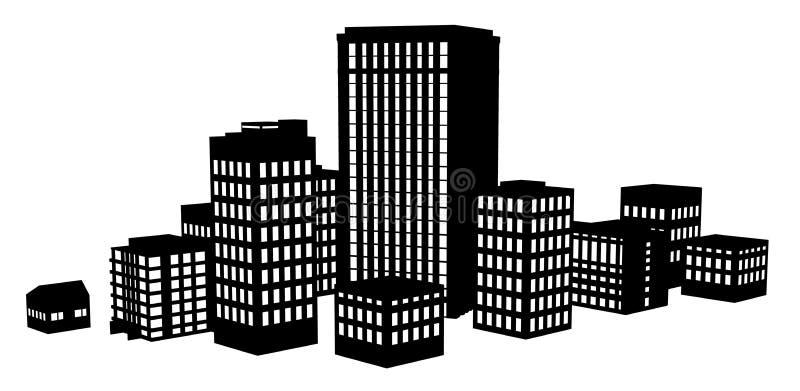 вектор grundge города предпосылки темный иллюстрация вектора