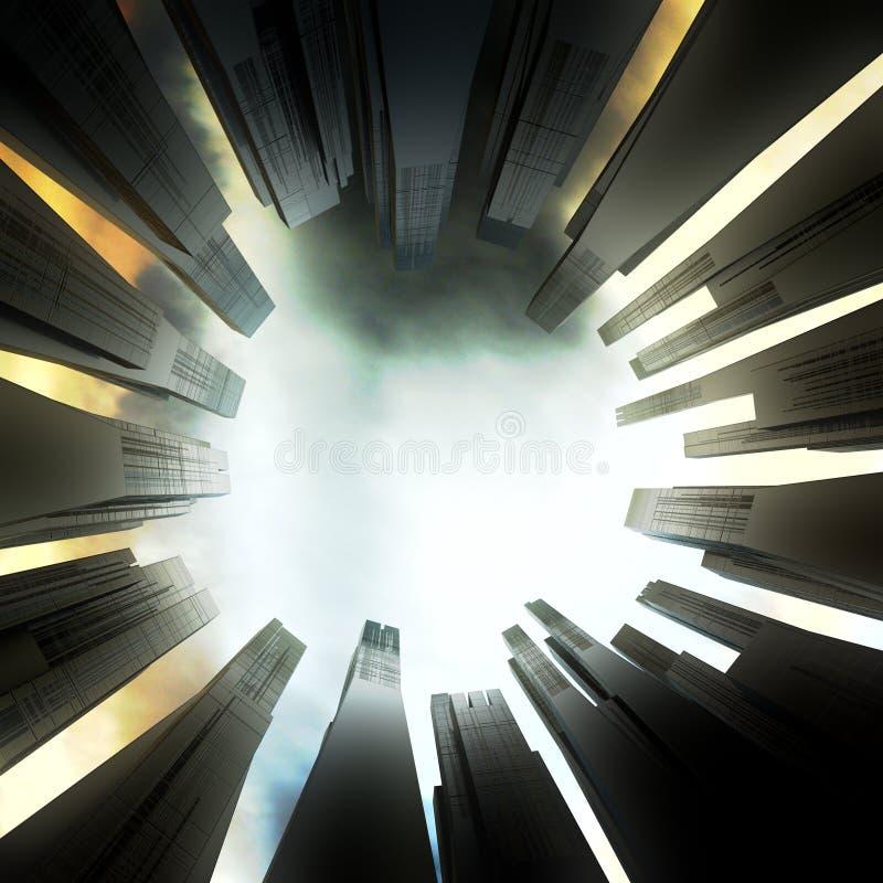 вектор grundge города предпосылки темный иллюстрация штока