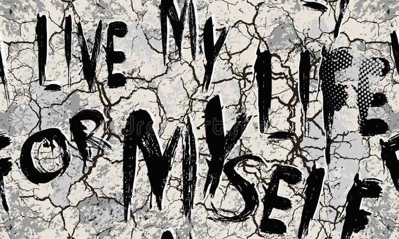 Вектор Grunge геометрический треснул безшовную картину Обои Abc Предпосылка городских отказов грязная Текстурированный ультрамодн бесплатная иллюстрация