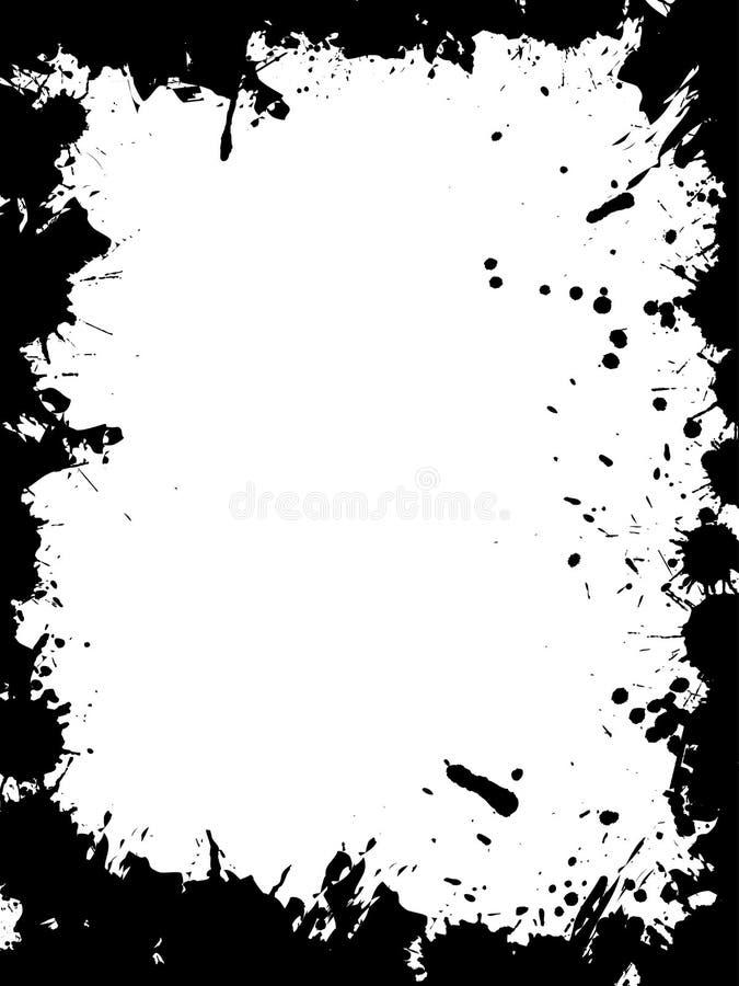вектор grunge граници иллюстрация вектора