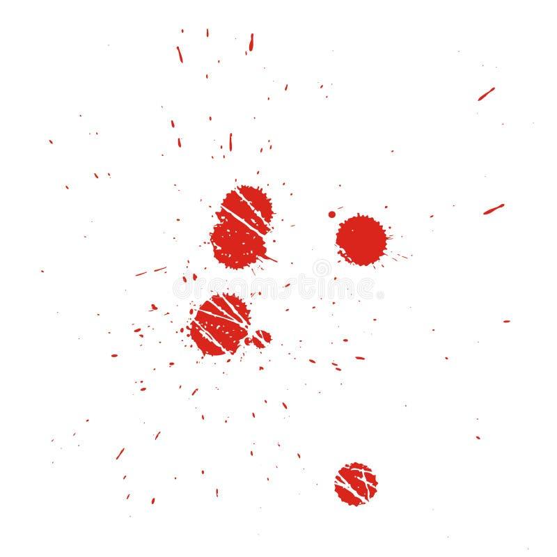 вектор grunge крови иллюстрация вектора