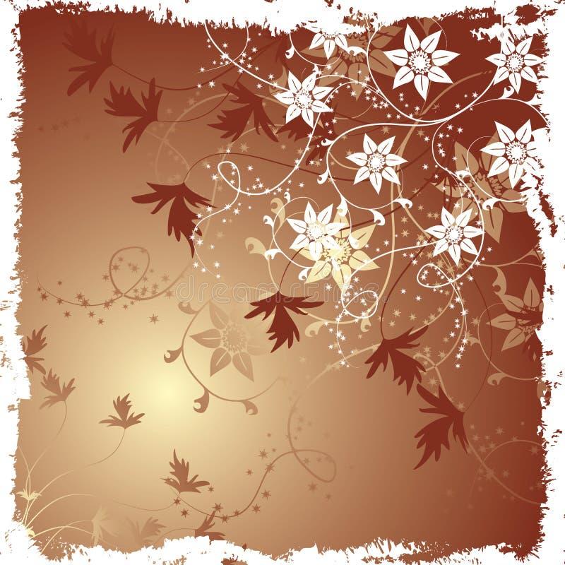 Download вектор Grunge предпосылки флористический Иллюстрация вектора - иллюстрации насчитывающей орнамент, контур: 1186479