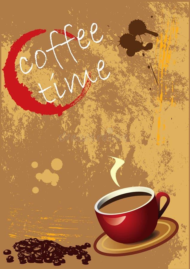 вектор grunge eps кофе предпосылки иллюстрация вектора