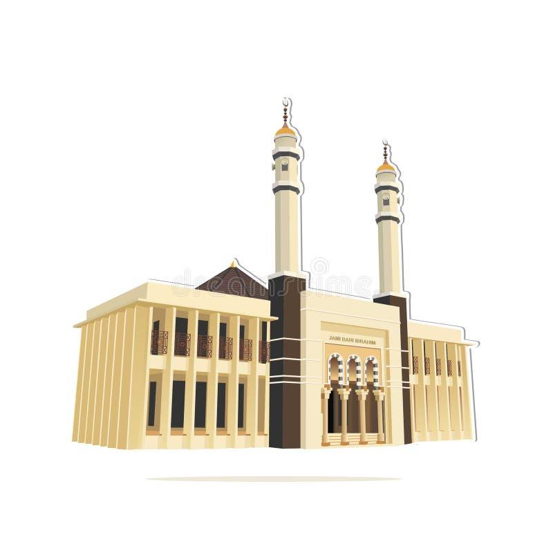 Вектор ibrahim bani Jami мечети иллюстрация вектора