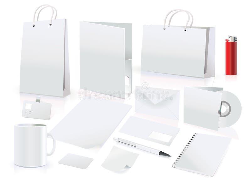 вектор identi элементов корпоративной конструкции установленный иллюстрация штока