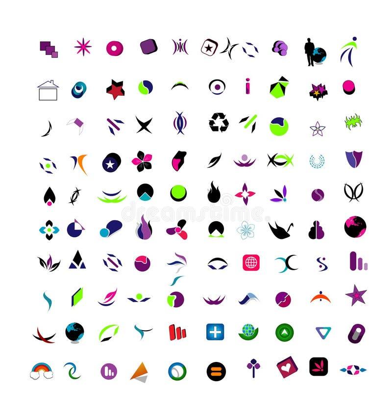 вектор illusrtration большими установленный логосами иллюстрация штока