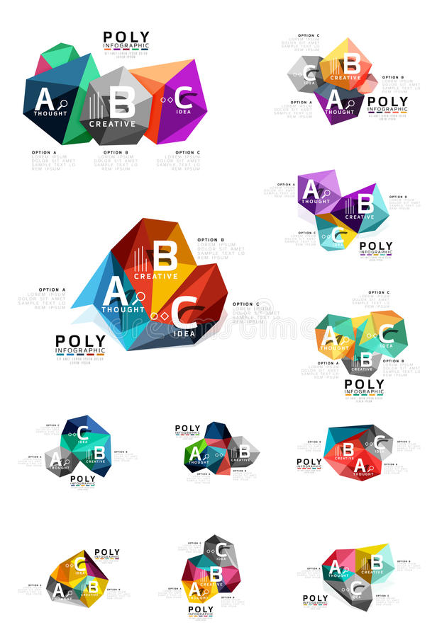 Вектор infographics ABC иллюстрация штока