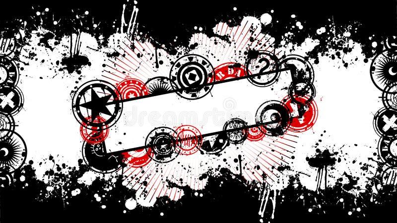 вектор splatter grunge знамени предпосылки бесплатная иллюстрация