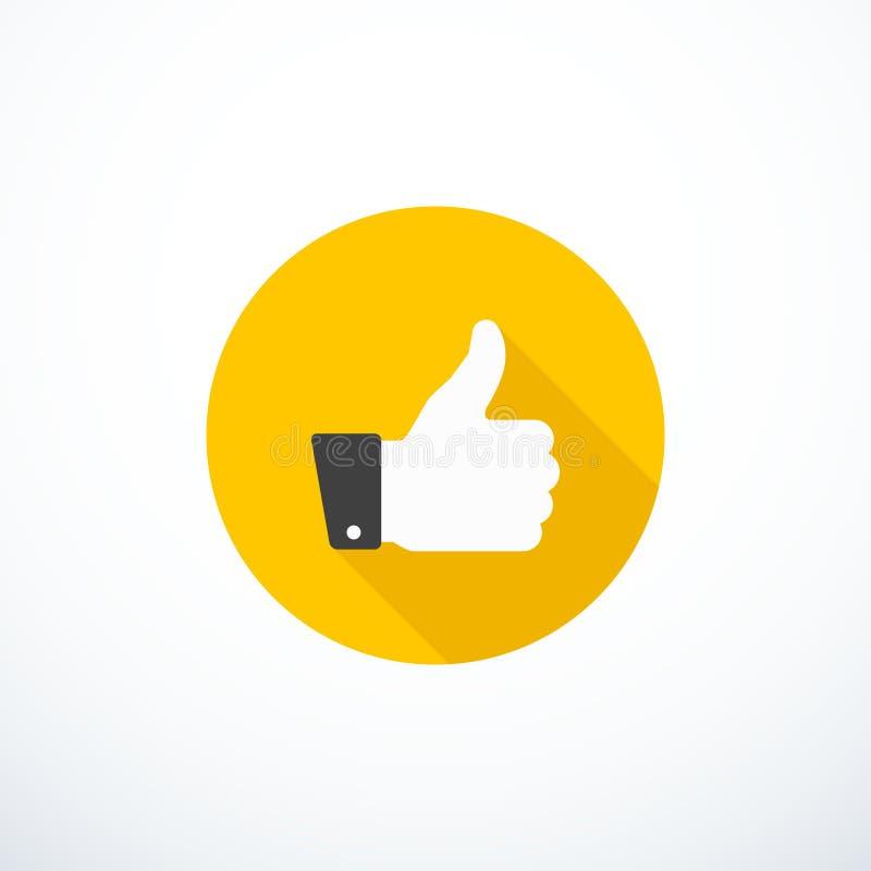 Вектор thumbs вверх по значку Как ikon бесплатная иллюстрация